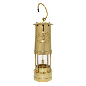 miners lamp, brass 10""