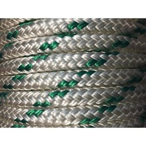 "double braided polpropylene rope 1 / 2"" with green trace"