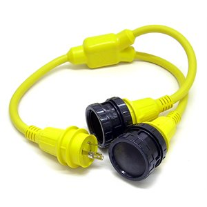 y adapter w /  2 female 30a 125v & 1 male 30a 125v