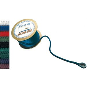 "double braided nylon anchor line 1 / 2"" x 100' burgandy"