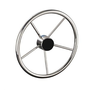 "STEERING WHEEL, 13.5"" STAINLESS STEEL 25 DEGREE"