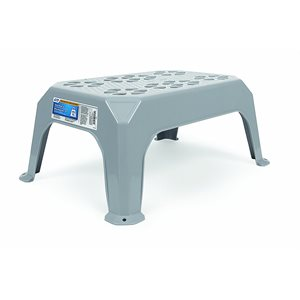 step stool, plastic, small gray
