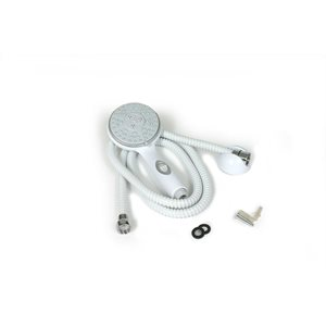 shower head kit-white w / on / off includes hose,head,mount&hrdw