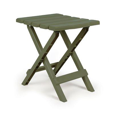 table, adirondack style quick folding, plastic,sm, champagne