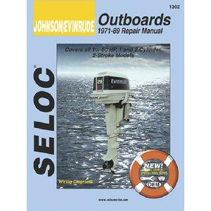 evinrude outboard 1971-89 1.25-60hp 1-2 cyl motor repair manual