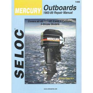 service manual mercury 40-115hp 3 & 4 cylinder 2-stroke 1965-89