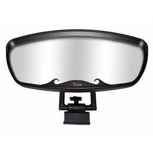 "wave mirror 7 x 17"" blk"