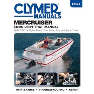 manuel d'entretien semi hors-bord clymer mercruiser     1998-2013