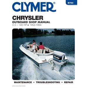 chrysler outboard 1962-84 3.5-150hp motor engine repair manu