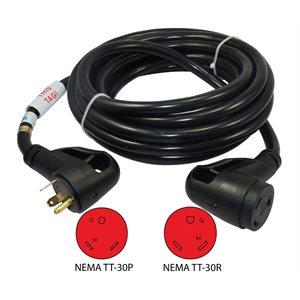 30 AMP RV Ergo Grip Power Extension Cord 25'