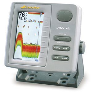 "sonar with lcd 4.3"" color screen & double cone transducer"