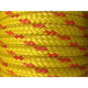"double braided floating safety line 1 / 2"" yellow."