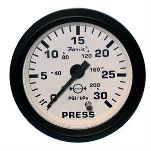 Jauge de pression d'eau 30psi euro blc