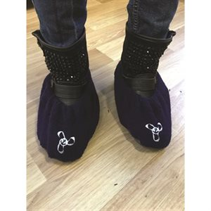 shoe cover dlx navy medium / pr