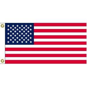"DRAPEAU USA 9""X18"""