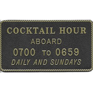 "PLAQUE "" COCKTAIL HOUR"""
