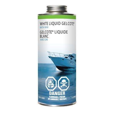 white liquid gelcote with wax,  1l
