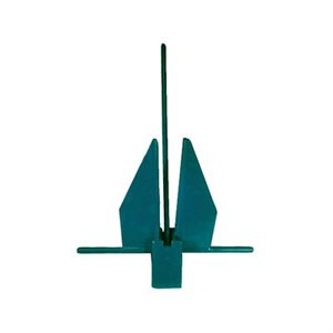 green yachting anchor 13lbs