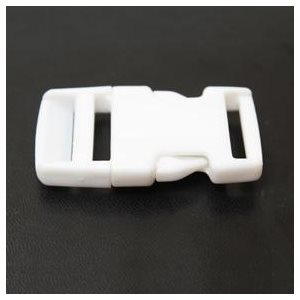 "1"" SIDE RELEASE BUCKLE WHITE"