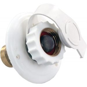 City Water Flange, Plastic, White, FPT
