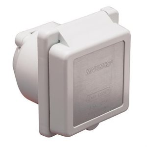 30 amp / 125v white power easy lock inlet