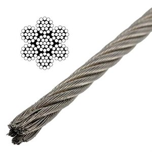 Cable inox. Type aviation 7x19 - 5 / 32""
