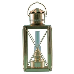 "cargo lantern, oil 15"" brass"