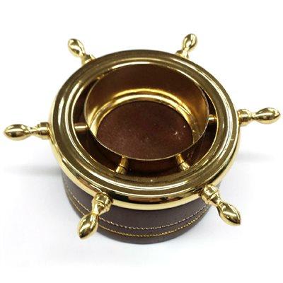 ship's wheel tea light (chr)