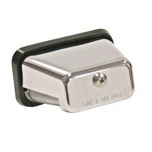 chrome stud mount license plate light w / bulb