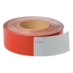 """reflective tape red & white 2""""x 18"""""""