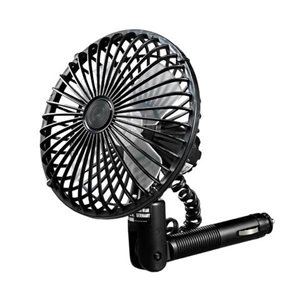 "oscillating fan,5"" blk w / 12v plug-in"