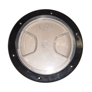 """deck plate, clear lid 5"""" blk"""