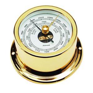 baromètre plaquée or cadran 50mm