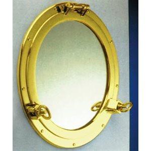 miroir hublot 203mm, laiton