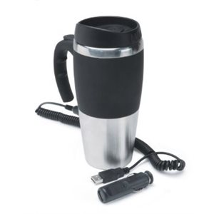 MUG, 12V 16oz HEATED w / USB