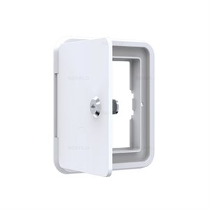 SQUARE HATCH, WHITE