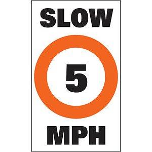 """auto-collant pour bouée """"slow 5 mph"""""""