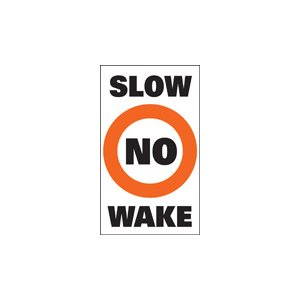 "auto-collant pour bouée ""no wake"""