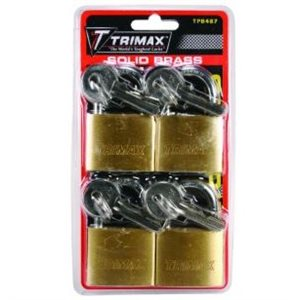 4-PK MARINE GRADE KEYED ALIKE LOCKING SOLID BRASS BODY