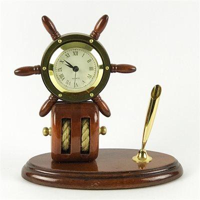 Horloge et porte-stylo - Gouvernail
