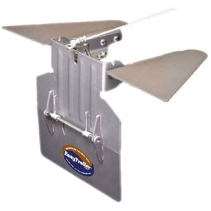 easytroller hinged metal trolling plate with fins
